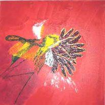 Leinen, Mischkunst, Spachteltechnik, Acrylmalerei