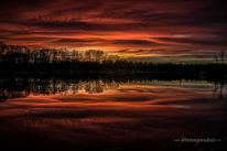 Blaue stunde, Rot, Sonnenuntergang, Abendstimmung
