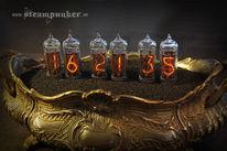 Uhr, Kaminuhr, Steampunk, Nixieuhr