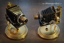 Webcam, Kamera, Rechner, Steampunk
