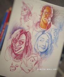 Comic, Skizze, Zeichnung, Zeichnungen