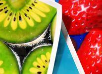 Früchte, Stillleben, Airbrush, Malerei