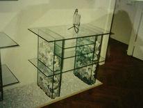 Stein, Glas, Tv, Design