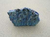 Stein, Acrylmalerei, Schwarz, Blau