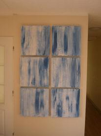 Loft, Malerei, Abstrakt, Blau