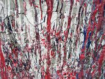 Weiss140x100, Rot, Beton, Malerei