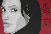 Angelina jolie, Frau, Abstufung, Portrait