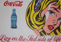 Cola, Acrylmalerei, Frau, Pop art