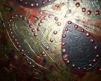 Malerei, Kupfer, Schwarz, Gold