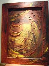 Rot, Malerei, Abstrakt, Inferno