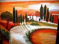 Toskana, Malerei, Haus