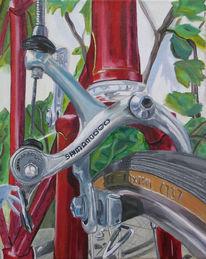 Technik, Fahrrad, Malerei, Stillleben