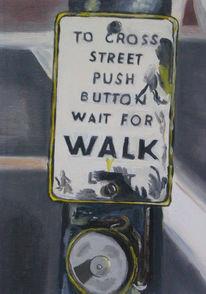 Verkehr, Fußgänger, Knopf, Ampel