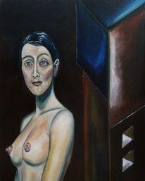 Frauenportrait, Augen, Ölmalerei, Blick