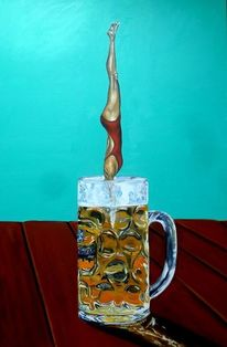 Kunstspringen, Sprung, Wasser, Bier