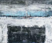Kubatur, Abstrakte landschaft, Maritim, Blau