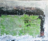 Schwarz weiß, Abstrakte landschaft, Expressionismus, Landschaft