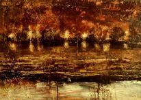 Abstrakte landschaft, Abstrakt, Erdfarben, Licht