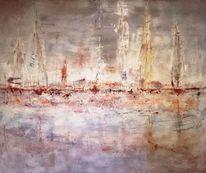 Modern, Hafen, Sardinien, Segelboot