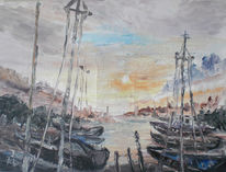 Gegenlicht, Hafen, Flüchtig, Segelschiff