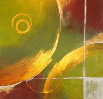 Gold, Grün, Braun, Malerei