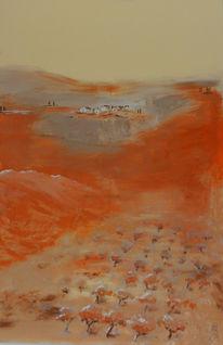 Terra, Toskana, Landschaft, Malerei