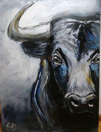 Stier, Ocker, Serie, Tiere