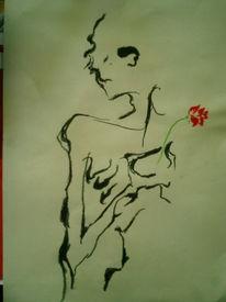 Schmerz, Blumen, Schwarz weiß, Liebe
