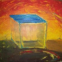 Abstrakt, Blau, Farben, Gegenständlich