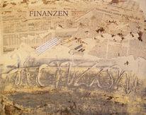 Finanz, Bank, Hoffnung, Malerei