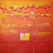 Liebe, Malerei, Abstrakt, Rose