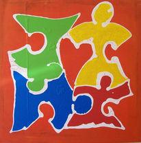 Puzzle, Farben, Verspielen, Halma