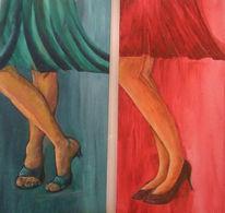 Bein, Frau, Tanz, Malerei