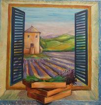 Lavendel, Fenster, Provence, Sommer