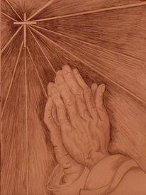 Hände, Kreuz, Glaube, Beten