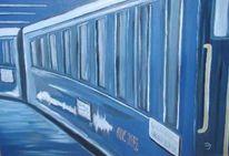 Orient, Zug, Blau, Malerei