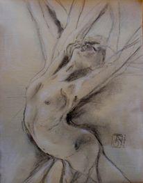Pastellmalerei, Zeichnung, Akt, Ausdruck