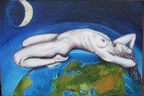 Erde, Akt, Frau, Erwachen