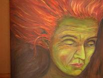 Frau, Jahreszeiten, Ernte, Malerei