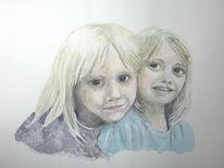 Kinder, Portrait, Vogel, Junge
