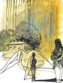 Landschaft, Skulptur, Wald, Baum