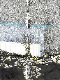 Baum, Architektur, Feuer, Figur