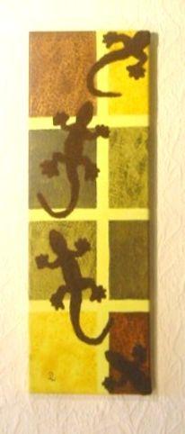 Malerei, Afrika, Salamander
