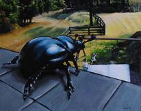 Käfer, Mistkäfer, Todsünden, Malerei