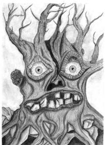 Angst, Baum, Zeichnungen, Pflanzen