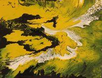 Weiß, Gelb, Abstrakt, Schwarz weiß