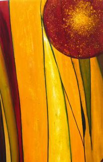 Malerei, Abstrakt, Sonne