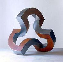 Dynamik, Konstruktion, Stahlskulptur, Plastik