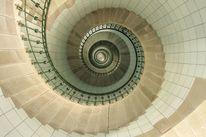 Leuchtturmtreppe, Bretagne, Fotografie,