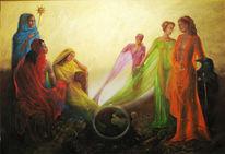Welt, Regenbogen, Konferenz, Erde